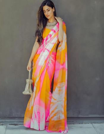 multi  saree -georgette | blouse -banglori silk fabric printed work festive