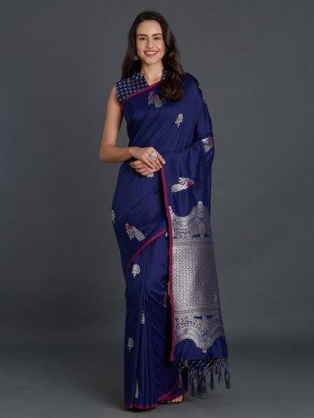 blue silk fabric weaving work festival