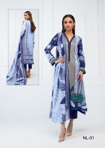 sky pure cotton fabric printed work casual