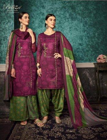 magenta pure pashmina fabric printed work festival