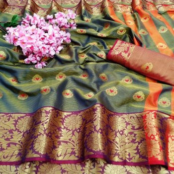grey lichi silk fabric weaving work festival