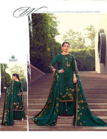 btali green pure pasmina fabric digital print work casual