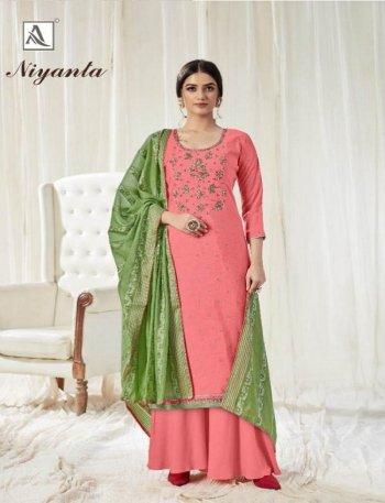 blush pink pure dola fabric swarovski diamond work festival