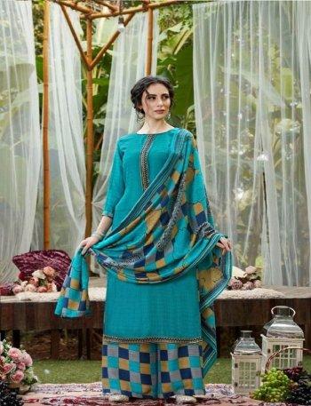 sky pure pasmina fabric parit work festival
