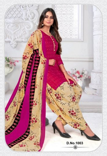 rani pink cotton fabric print work casual