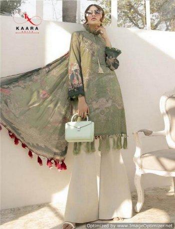 olive pashmina fabric print work casual