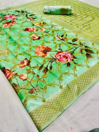 nion  jacqurad fabric digital print work party