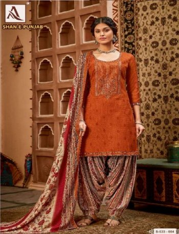 rust pure pashmina fabric embroidery work casual