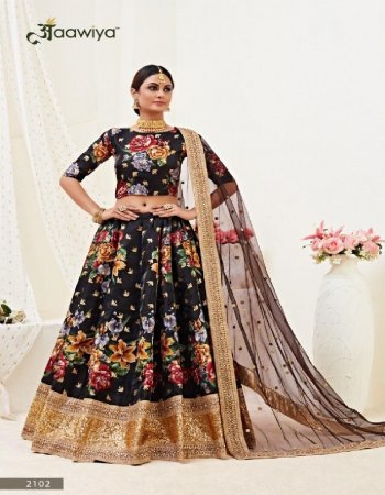 black benglori satin fabric floral print & dori zari and sequance  work wedding