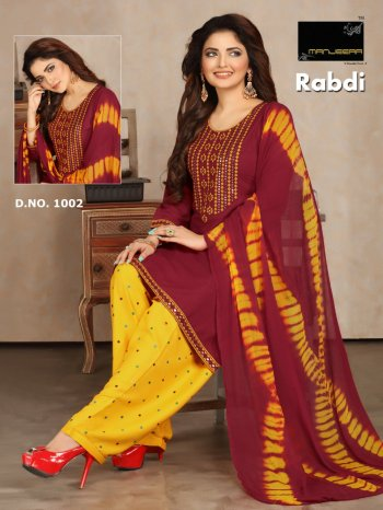 maroon rayon fabric printed work running