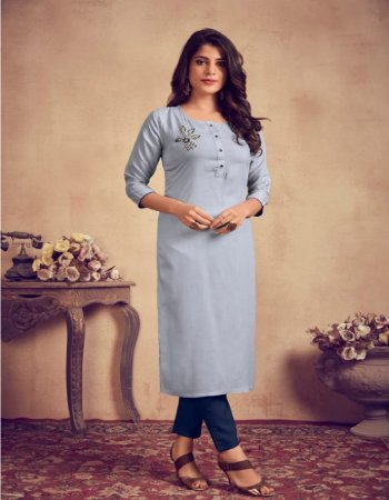 grey rayon fabric threda work work ethnic