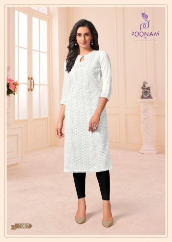 white georgette fabric siffli work work feastval
