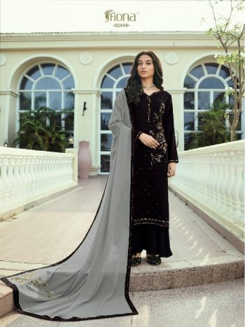black soft silk fabric embroidery work party