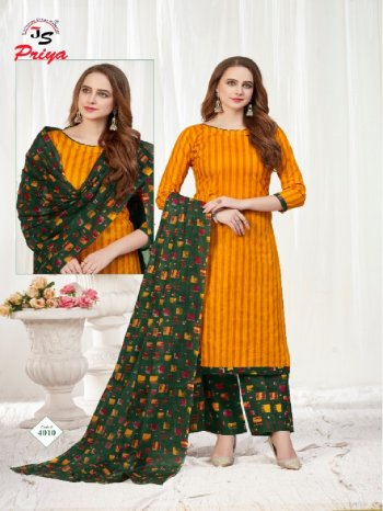 methi yellow cotton fabric printed work party