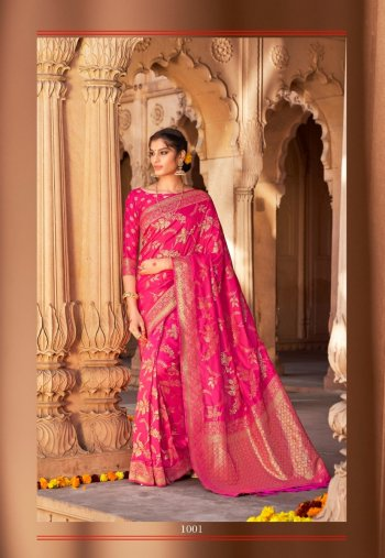 rani silk fabric jaquard print work wedding