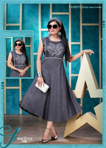 grey heavy rayon fabric embroidery work casual