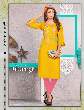 light yellow rayon fabric embroidery work casual