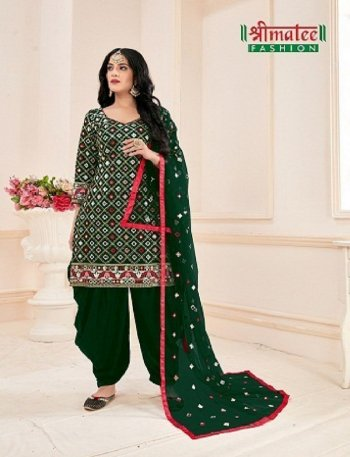 green jam cotton fabric embroidery sequence  work festival