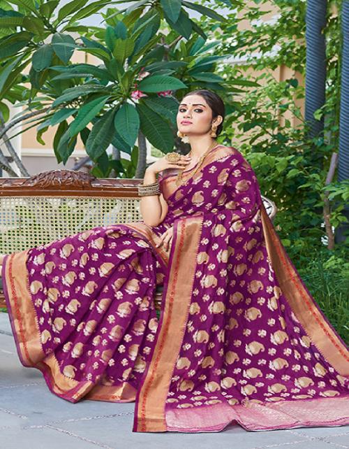 burgandi handloom silk fabric jacquard work ethnic