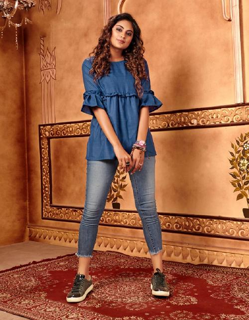 blue cotton silk fabric plain work festive