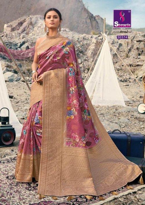jam pink soft gicha silk fabric weaving kasab rich pallu work festival