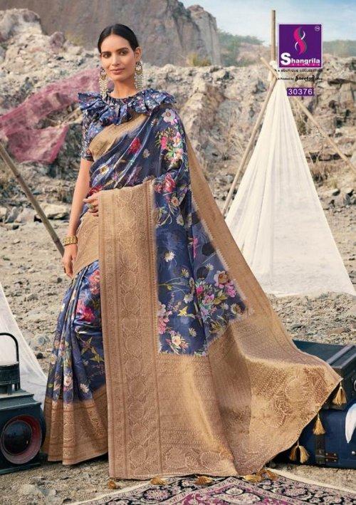 light blue soft gicha silk fabric weaving kasab rich pallu work festival