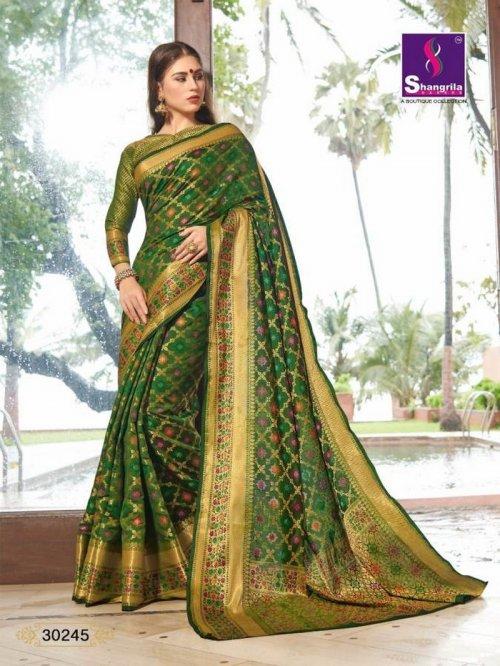 apple green silk fabric weaving work wedding