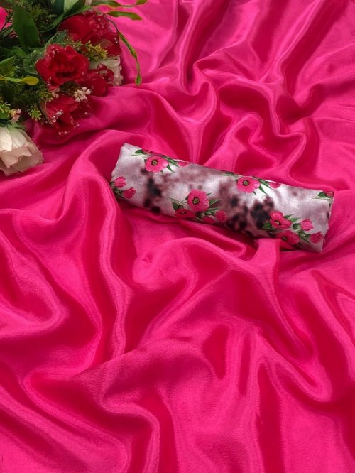 hot pink chiffon fabric plain work party