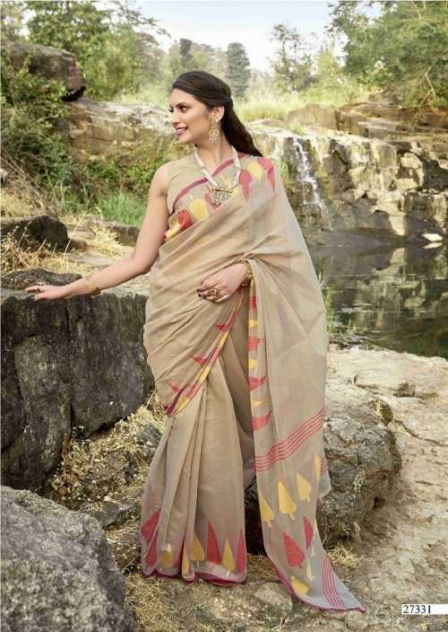 coffee cotton fabric jacquard work party wear